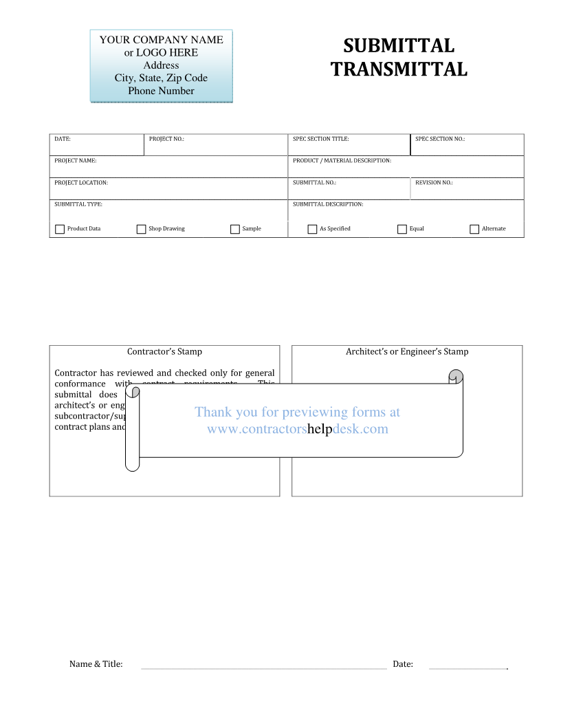Doc679878 Transmittal Template Form Template 62 More Docs – Transmittal Template
